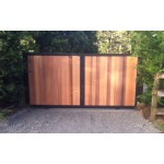 Cedar Panelled Style Sliding Driveway Gate