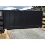 Aluminium Tongue & Groove Style Sliding Driveway Gate
